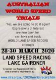 World Speed Trials Australia